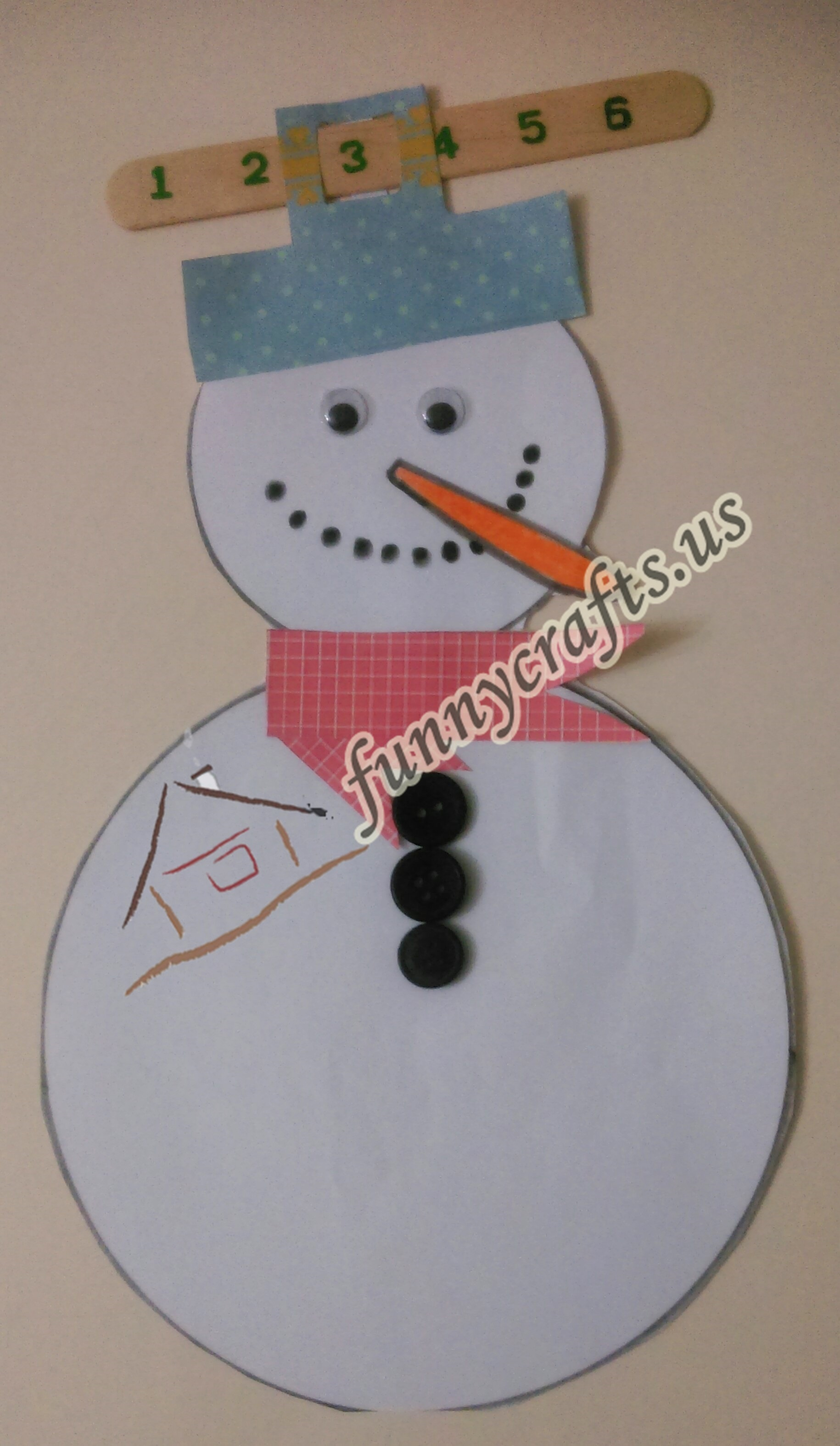 Photo of Snowman button counting game