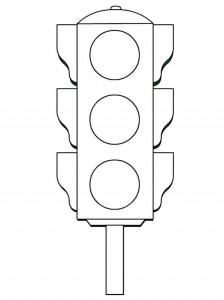traffic light coloring worksheets kıds (5)