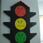 Traffic lights craft for preschoolers
