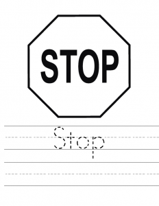 traffic stop worksheets