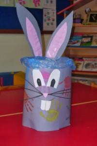 trash bunny crafts