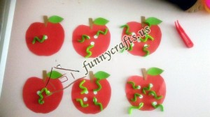 worms in my apples file folder game counting,