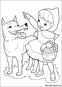 Little red riding hood free coloring pages  (1)