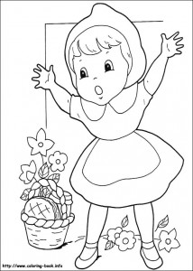 Little red riding hood free coloring pages  (11)