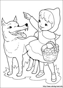 Little red riding hood free coloring pages (3)