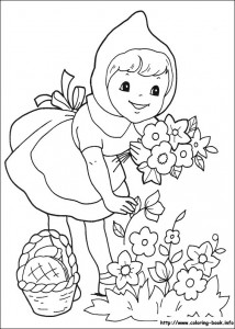 Little red riding hood free coloring pages (7)
