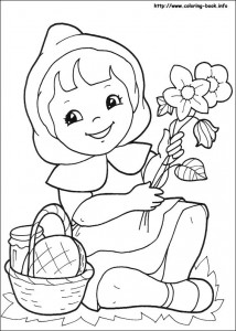 Little red riding hood free coloring pages  (8)