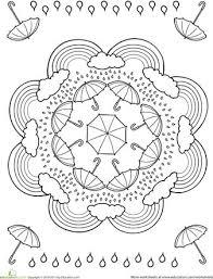 april rain mandala coloring pages (6)