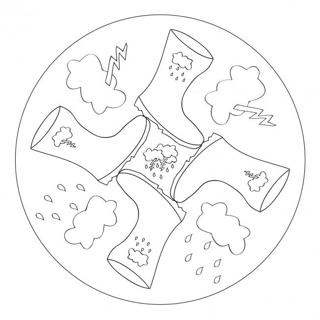 april rain mandala coloring pages 8 Preschool and