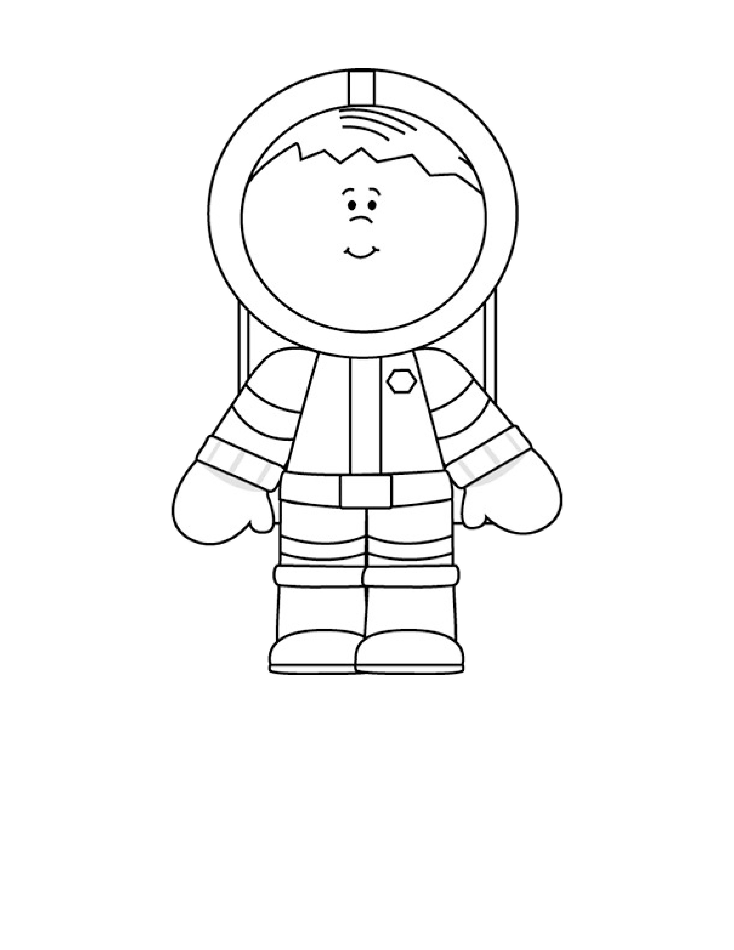 astronaut coloring pages (5) « Preschool and Homeschool