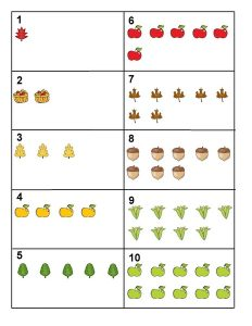 autumn counting activity