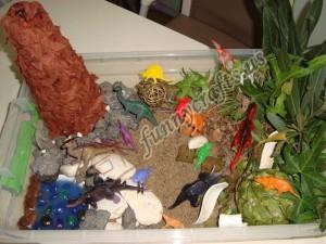 awesome dinosaur activity bin for children
