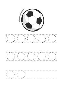 ball line handwriting worksheet