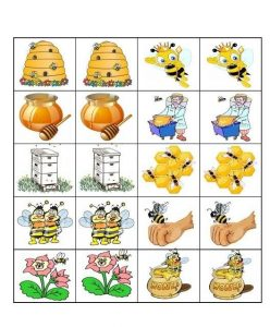 bee memory game printables