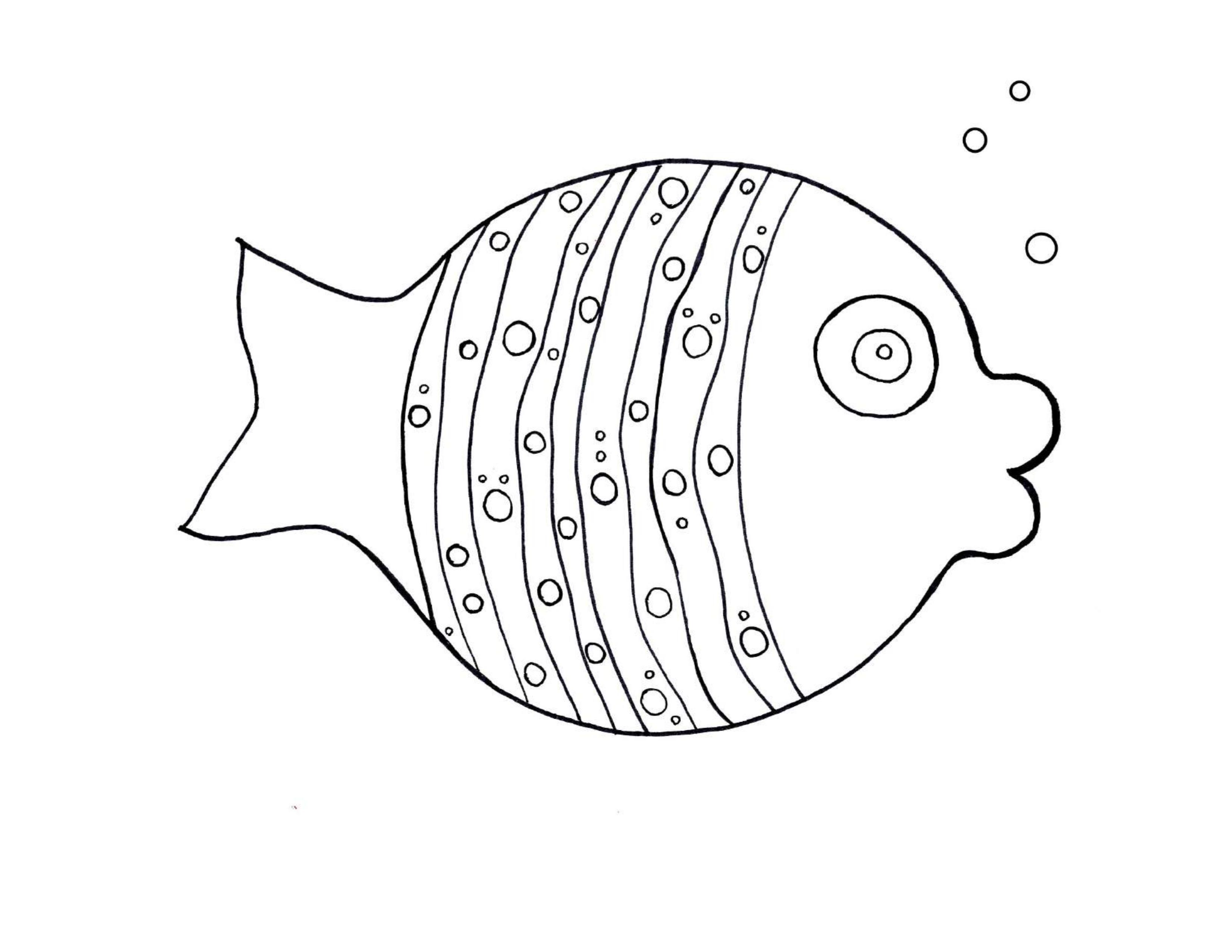 best fish coloring pages for kindergarten (3) « Preschool ...
