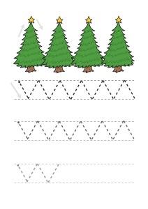 christmas line handwriting worksheet