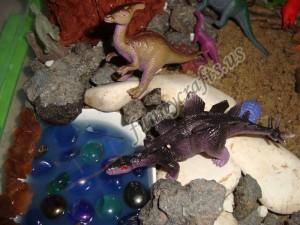 d is for dinosaur sensory bin play for kids