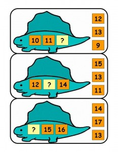 dinosaur number activities