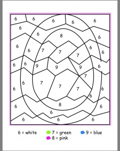 easter color by number activities (1)