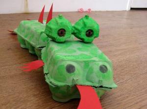 egg box dragon craft
