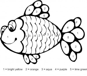 fish color by number coloring pages (10)