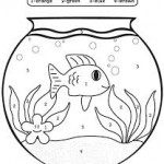 Fish color by number printables