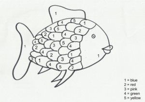 Fun Color By Number Rainbow Fish Coloring Page For Preschoolers - Letscolorit.com