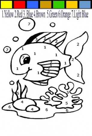 fish color by number coloring pages 2 Preschool and