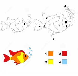 fish color by number coloring pages (8)