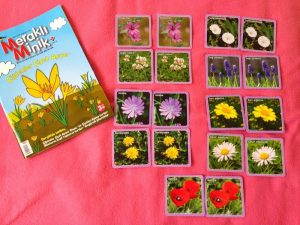 flower matching cards