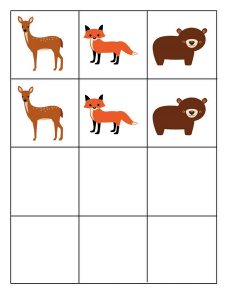 forest animals pattern cards (3)