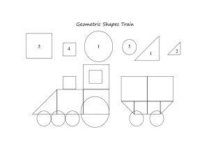 geometric shapes train printables
