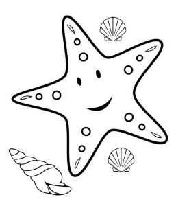 happy starfish coloring pages (2)