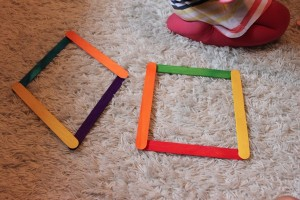 make a shapes with popsicle stick (4)