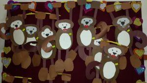 monkey themed bulletin board for preschool (6)
