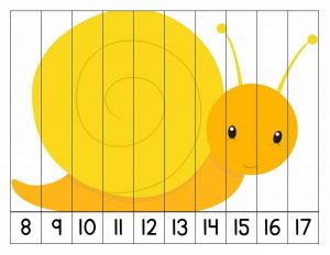 number puzzles snail