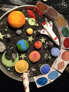 outer space crafts and coloring pages, lessons and activities about space, astronomy, planets,