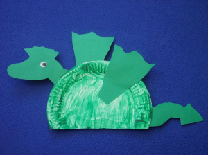 paper plate dragon craft for kids