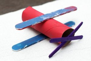 paper roll airplane craft
