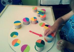 pattern activities using bottle caps