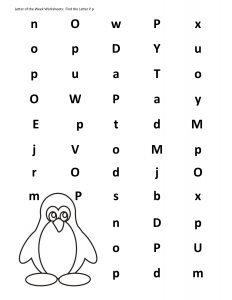 penguin alphabet activity