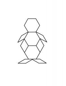 penguin pattern block mat
