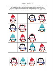 penguin sudoku free printables (2)