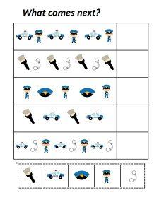 Police Comes Next Worksheet 171 Preschool And Homeschool