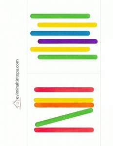 popsicle stick pattern 1 Preschool