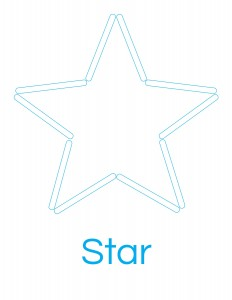 popsicle stick star template