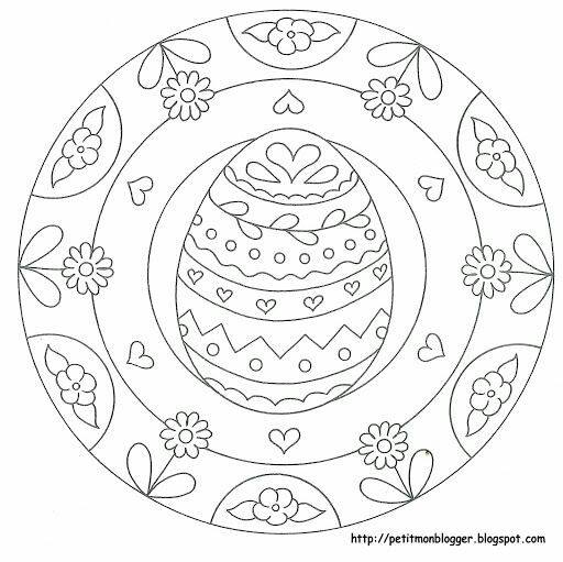 preschool easter egg mandala coloring 4 Preschool and