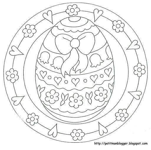 preschool easter egg mandala coloring
