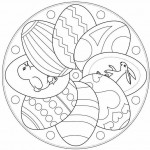 Easter egg mandala coloring pages