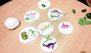 salt dough dinosaur fossils and bones for kids